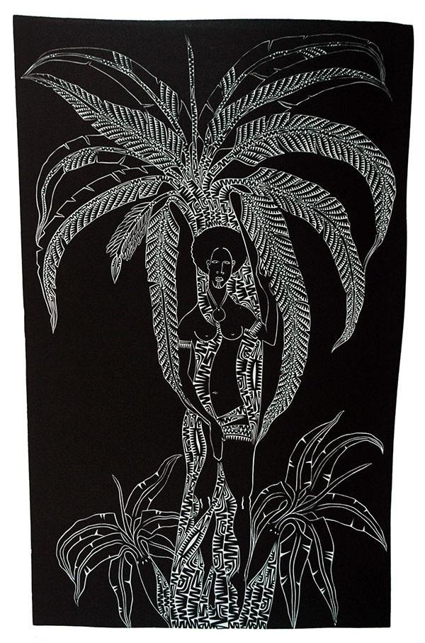 Katham (Woman Under Palm)